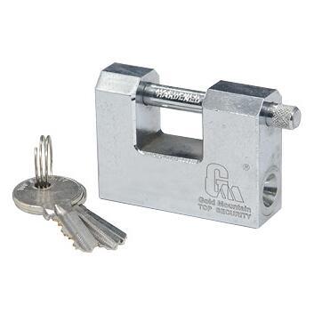 横梁弹子铜电镀锁